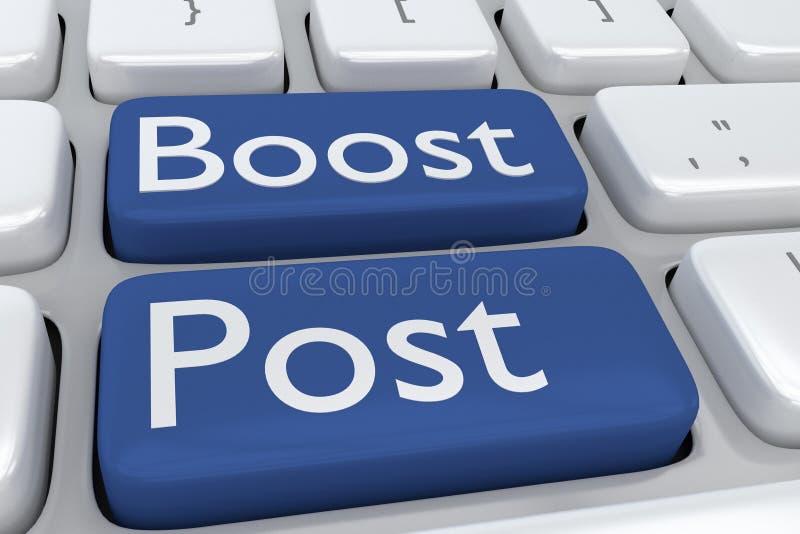 Concepto de los posts del alza stock de ilustración