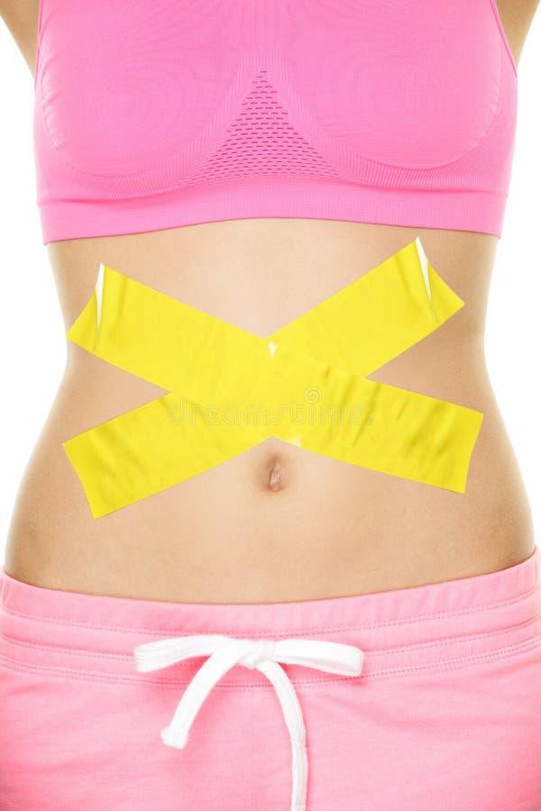 Concepto de los problemas de la digestión de la salud del dolor de estómago foto de archivo libre de regalías