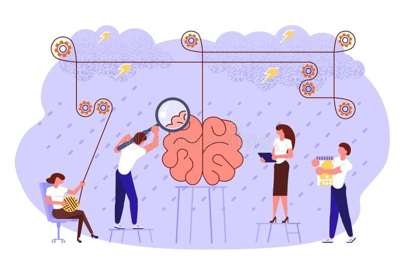 Concepto de los problemas de salud mental stock de ilustración