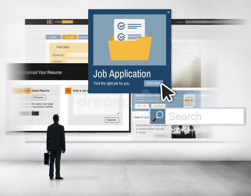 Concepto de los recursos de Job Application Apply Hiring Human foto de archivo