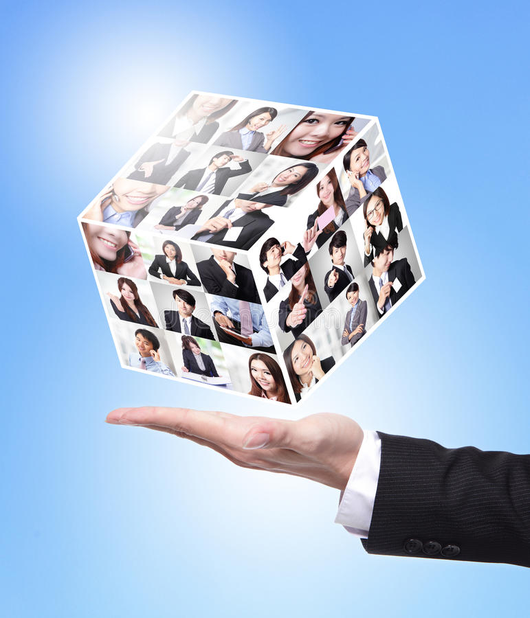 Concepto de los recursos humanos imagen de archivo libre de regalías