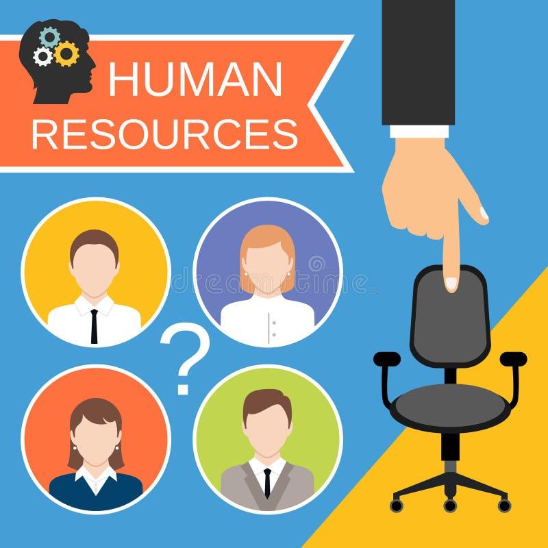 Concepto de los recursos humanos libre illustration