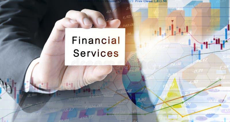Concepto de los servicios financieros fotografía de archivo