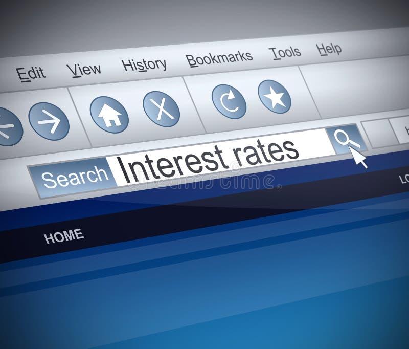 Concepto de los tipos de interés. libre illustration