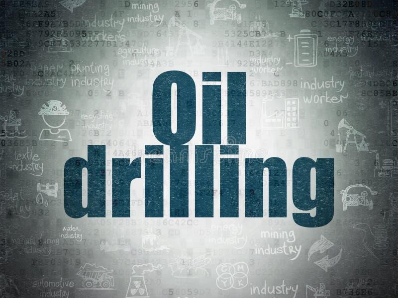 Concepto de Manufacuring: Perforación petrolífera en fondo del papel de datos de Digitaces libre illustration