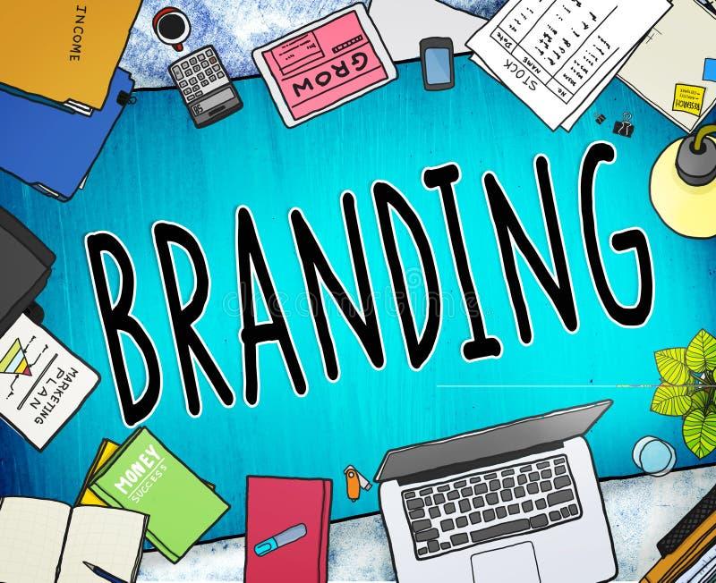 Concepto de marcado en caliente de la identidad de la estrategia empresarial del marketing de marca libre illustration