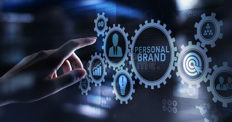 Concepto de marcado en caliente personal de la educación del negocio del desarrollo de marca imagen de archivo