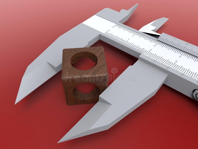 Concepto de medición del calibrador ilustración del vector