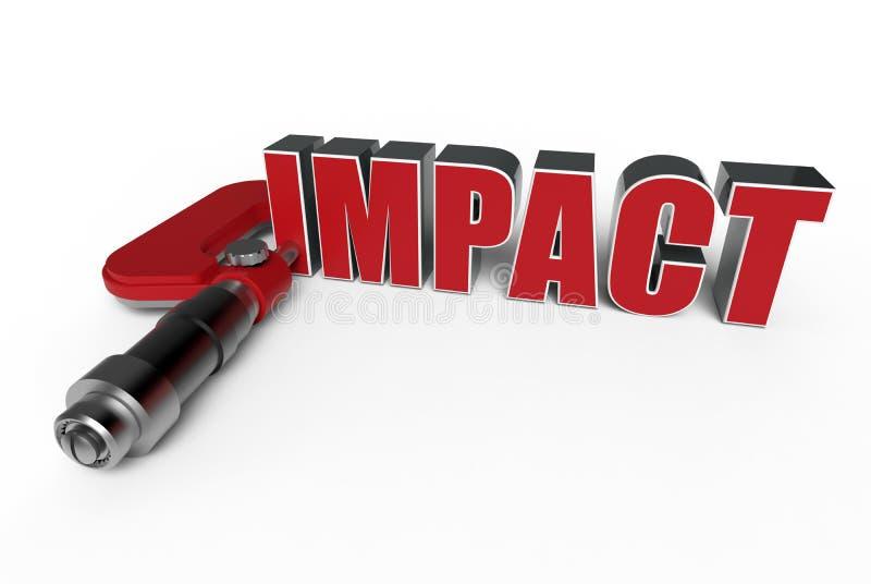 Concepto de medición del impacto stock de ilustración