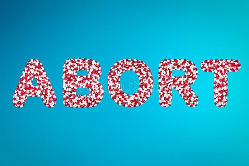 Concepto de medicina del aborto fotografía de archivo libre de regalías