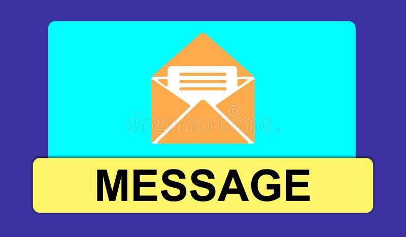 Concepto de mensaje ilustración del vector