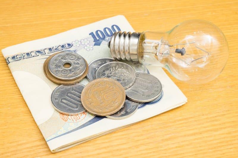 Concepto de moneda japonesa fotografía de archivo libre de regalías