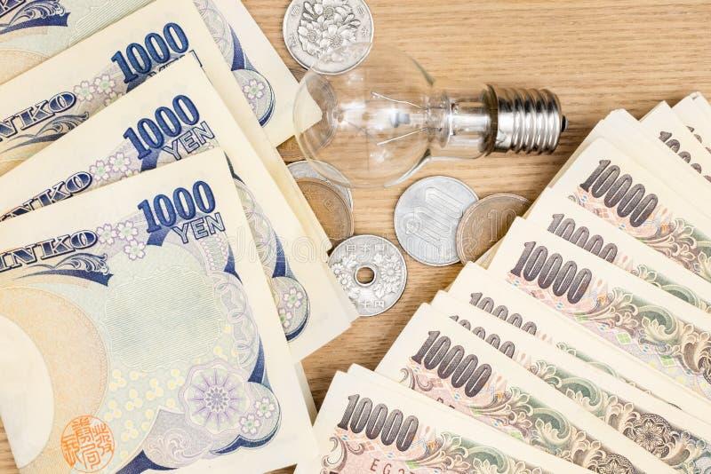 Concepto de moneda japonesa fotografía de archivo