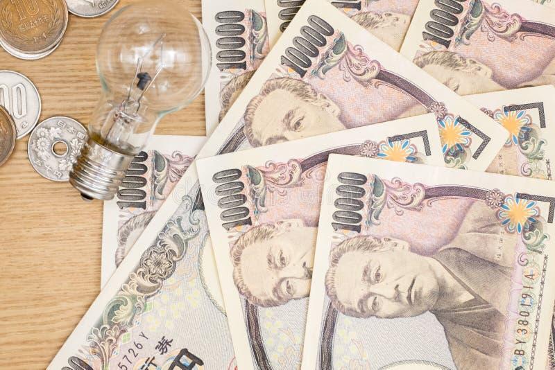 Concepto de moneda japonesa fotos de archivo libres de regalías