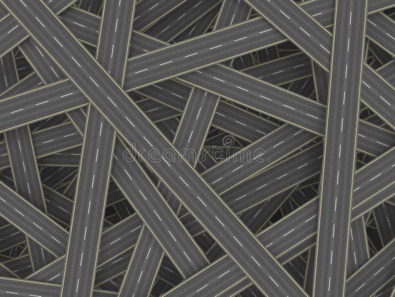 Concepto de muchos caminos ilustración del vector