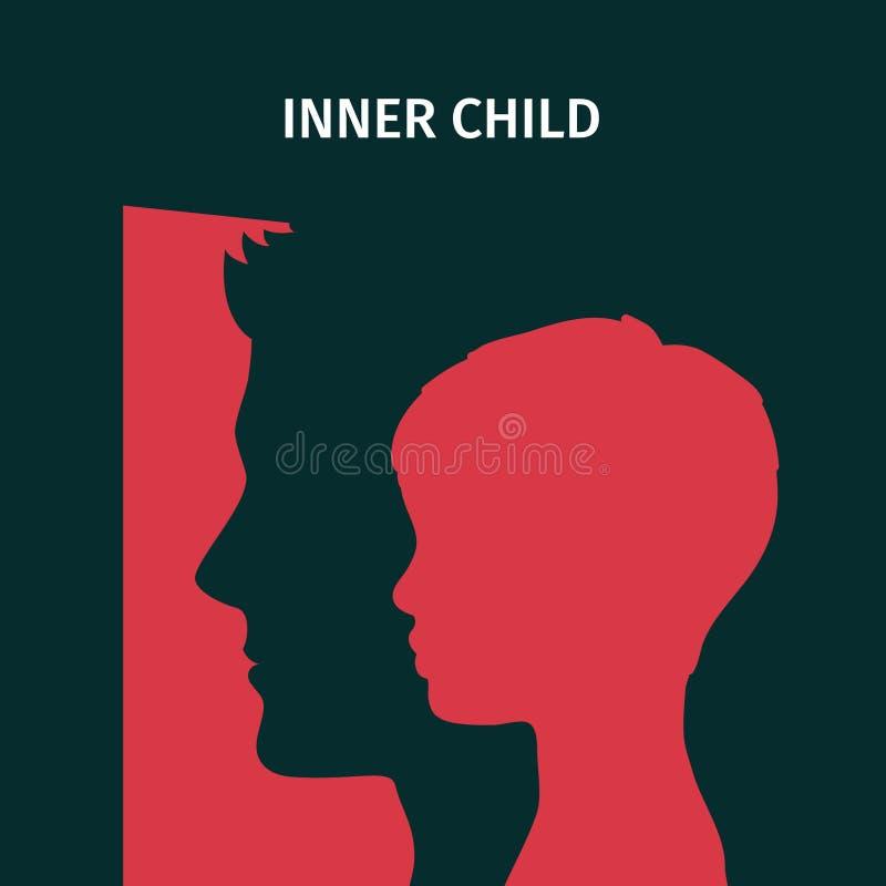 Concepto de niño interno ilustración del vector