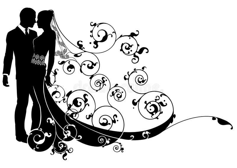 Concepto de novia y del novio libre illustration