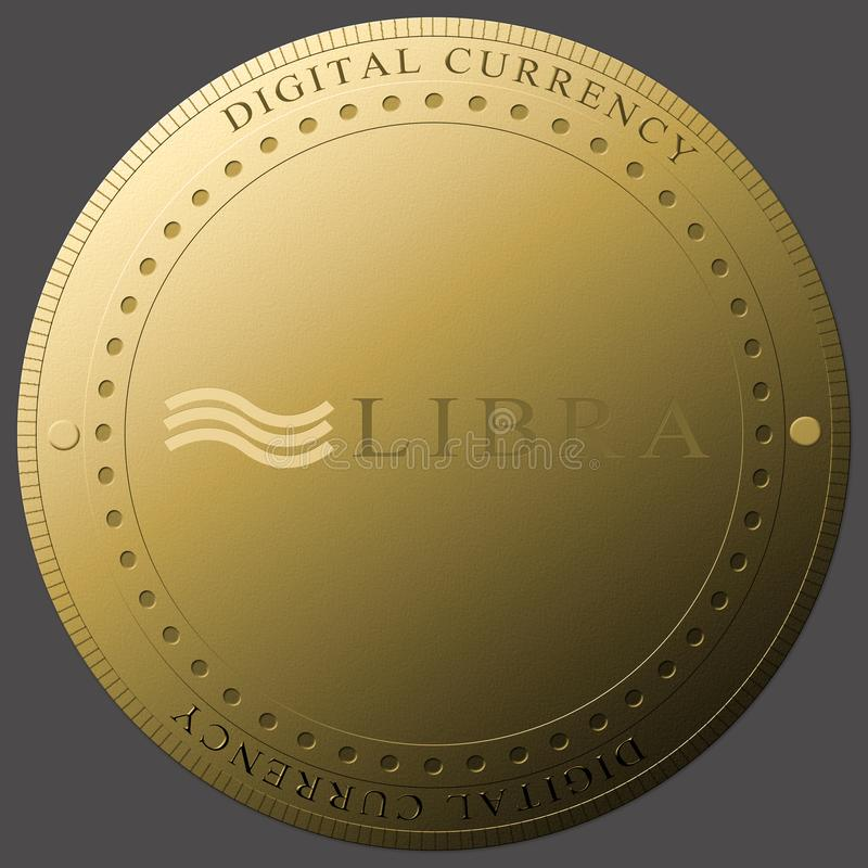 Concepto de nueva moneda digital de la moneda de Cryptocurrency del libra fotos de archivo libres de regalías
