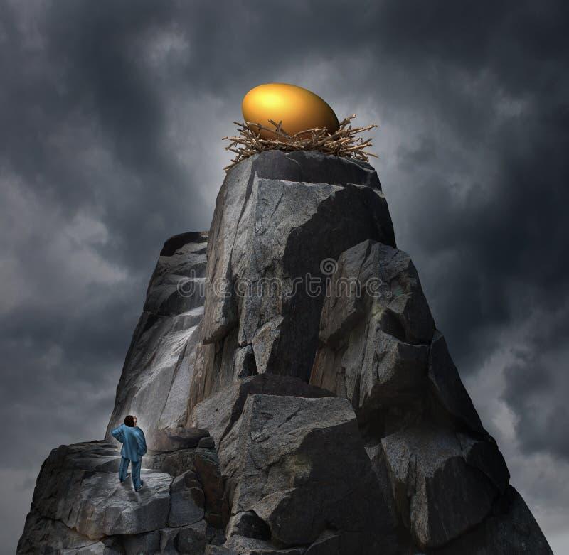 Concepto de oro del huevo de jerarquía libre illustration