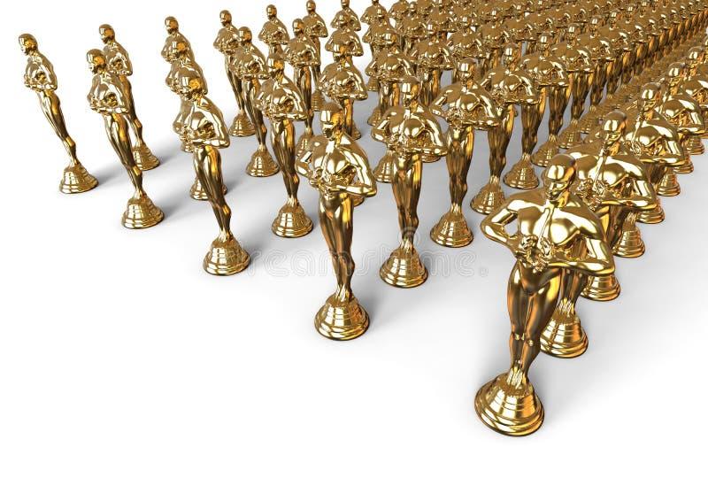Concepto de Oscars ilustración del vector