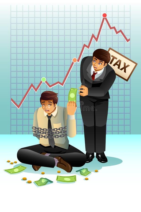 Concepto de pagar impuesto stock de ilustración