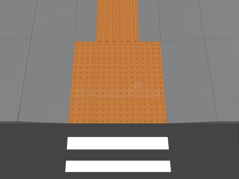 Concepto de pavimentación táctil ilustración del vector