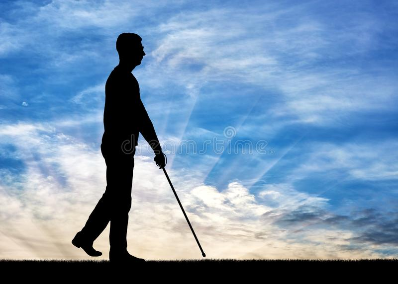 Concepto de personas con discapacidades ciegas foto de archivo libre de regalías