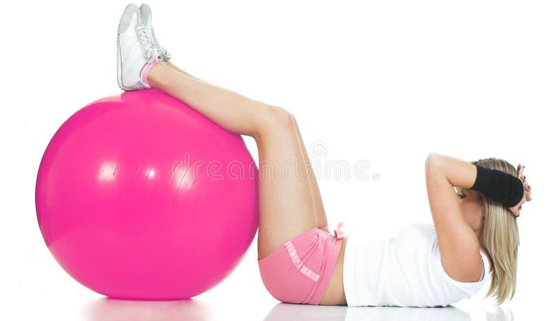 Concepto de Pilates - muchacha de la aptitud foto de archivo libre de regalías