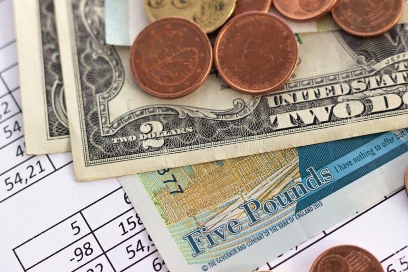 Concepto de planificación de ahorro de la cuenta de las finanzas del negocio contabilidad, cálculos de negocio, cuenta del efecti fotos de archivo libres de regalías