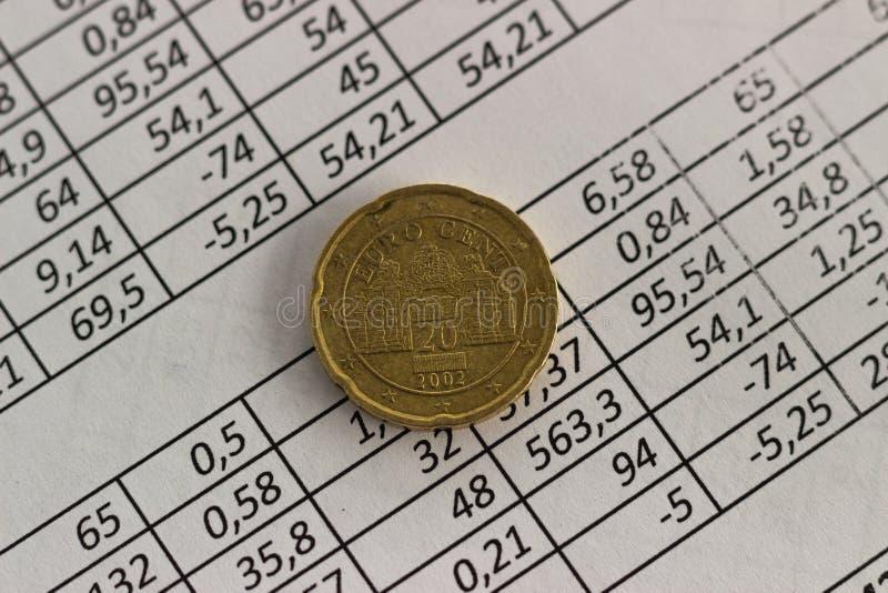 Concepto de planificación de ahorro de la cuenta de las finanzas del negocio contabilidad, cálculos de negocio, cuenta del efecti foto de archivo libre de regalías