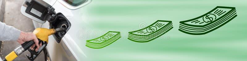 Concepto de precio de combustible ilustración del vector