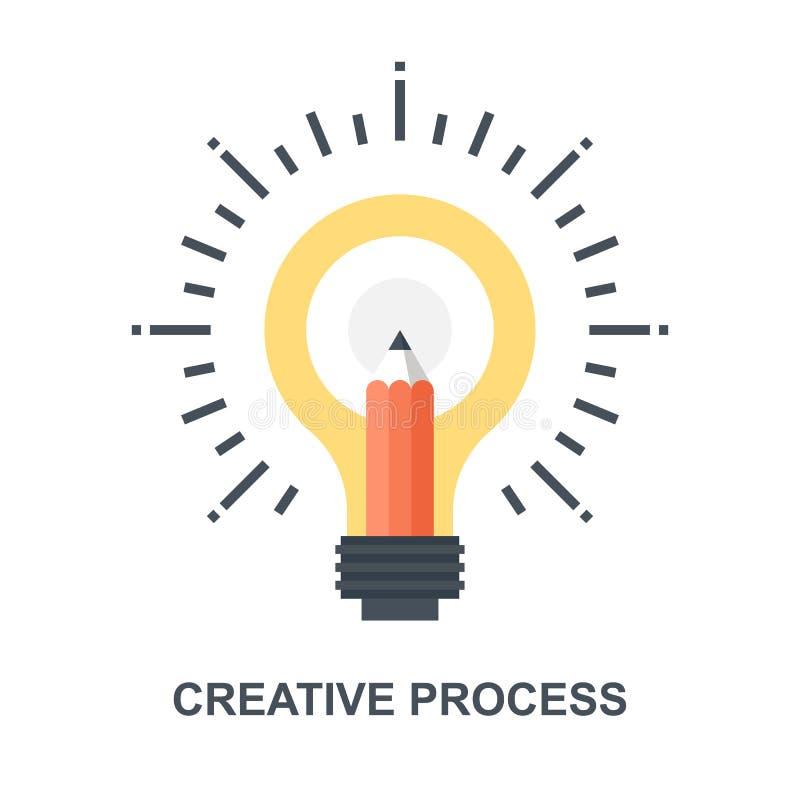 Concepto de proceso creativo del icono ilustración del vector