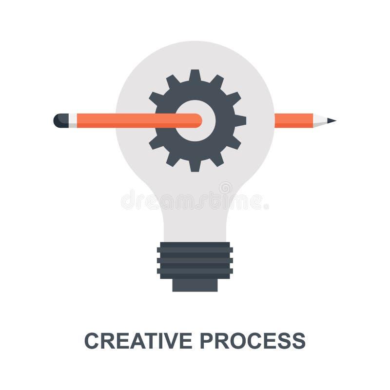 Concepto de proceso creativo del icono stock de ilustración