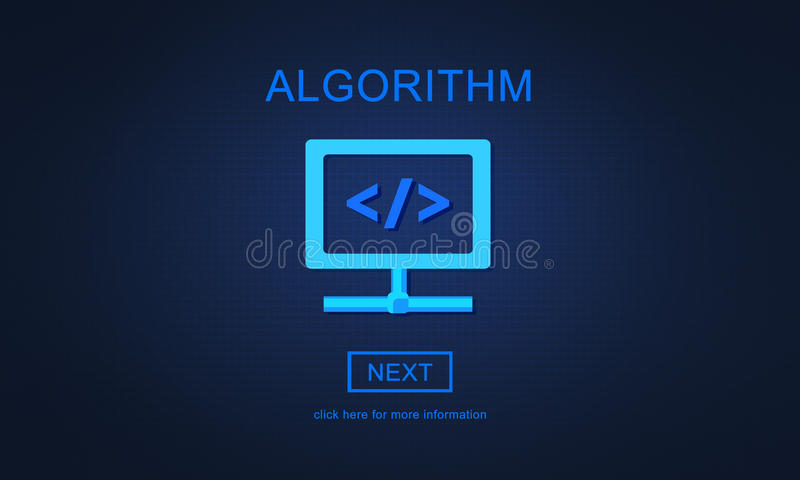 Concepto de programación de proceso de los principios del método del algoritmo ilustración del vector