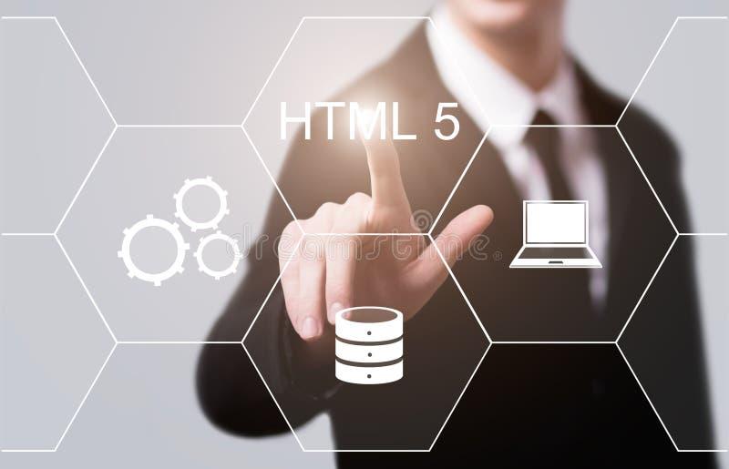 Concepto de programación de la codificación del desarrollo web del lenguaje del HTML fotos de archivo libres de regalías