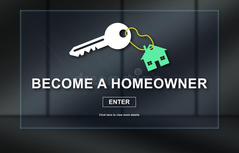 Concepto de propiedades inmobiliarias en línea stock de ilustración