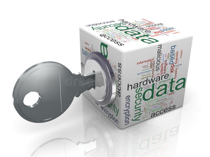 Concepto de protección de datos ilustración del vector