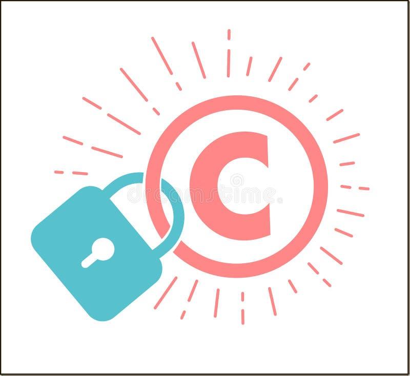 Concepto de protección de los derechos reservados libre illustration
