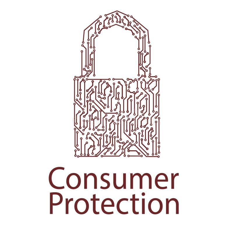 concepto de protección del consumidor libre illustration