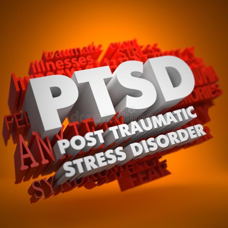 Concepto de PTSD. ilustración del vector