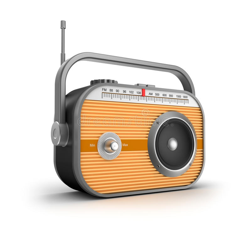 Concepto de radio retro. stock de ilustración