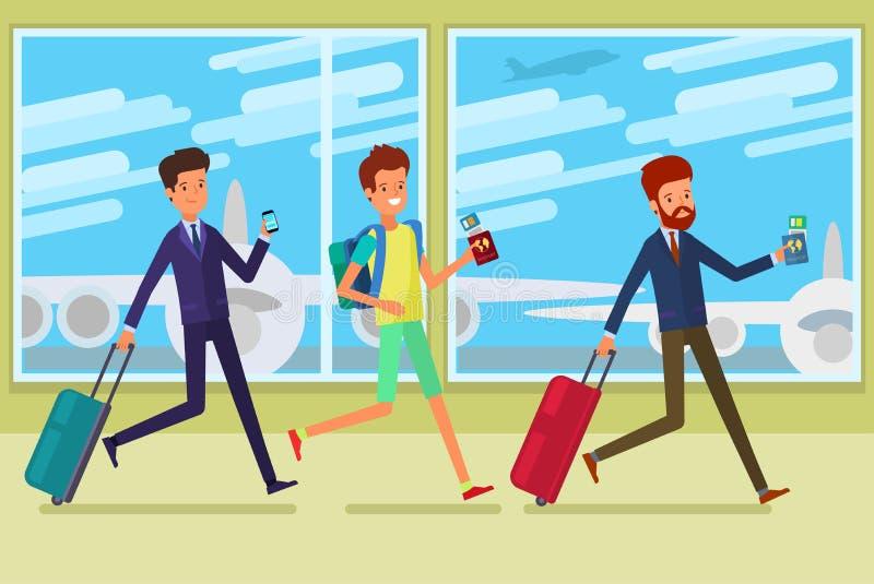 Concepto de recorrido stock de ilustración
