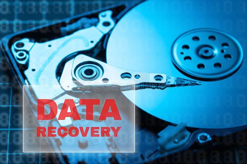 Concepto de recuperación de los datos Copia de seguridad de datos HDD fotos de archivo libres de regalías