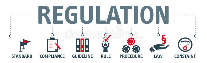 Concepto de regla del ejemplo de la bandera libre illustration