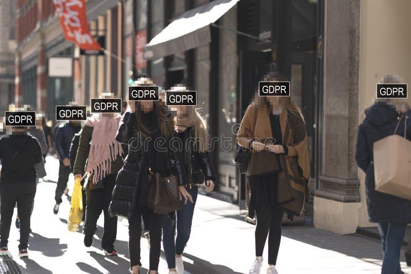 Concepto de regla de la protección de datos general GDPR fotos de archivo