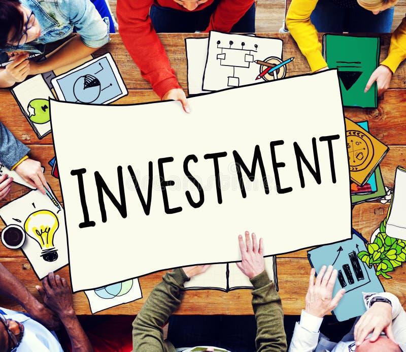 Concepto de renta de inversión financiero de la economía de la inversión imágenes de archivo libres de regalías