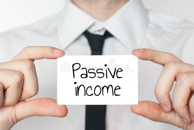 Concepto de renta pasiva imagen de archivo