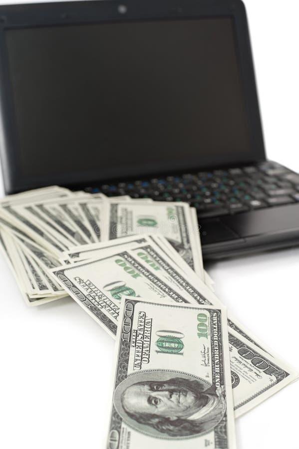 Concepto de renta a través del Internet imágenes de archivo libres de regalías