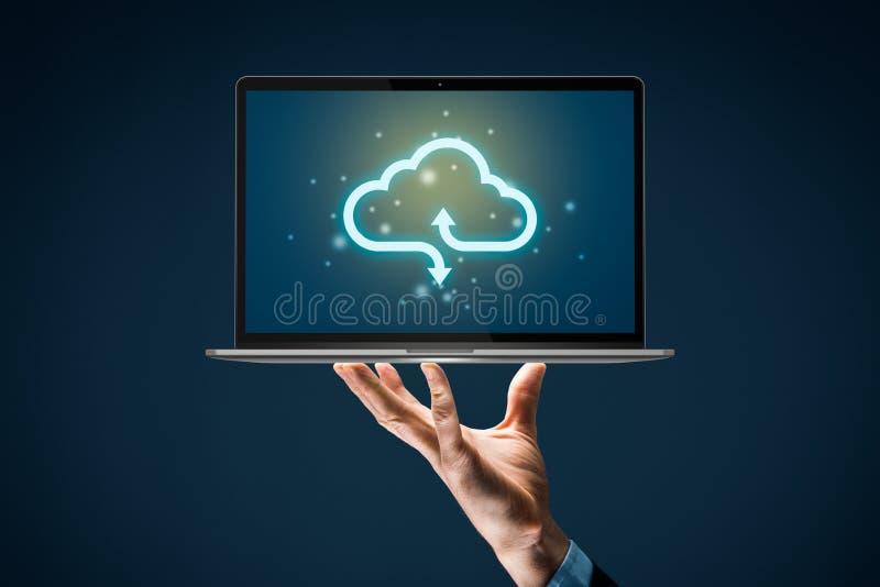 Concepto de respaldo de cloud computing foto de archivo