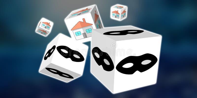 Concepto de robo casero stock de ilustración